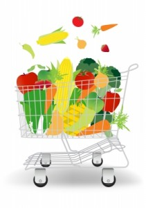 Fruits and Vegetables In Shopping Cart