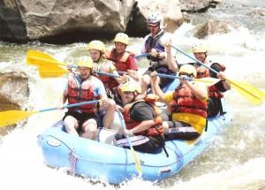 Gary, Debra, Natalie, & Ty rafting down the Rio Grand River
